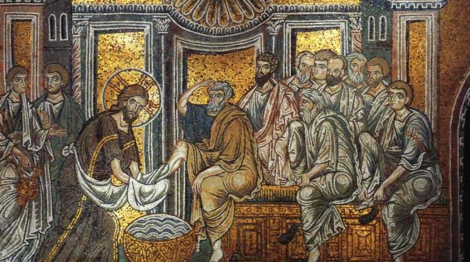 Christ Washes Apostles' Feet (Monreale)